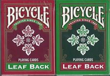 CARTE DA GIOCO BICYCLE LEAF BACK,poker size