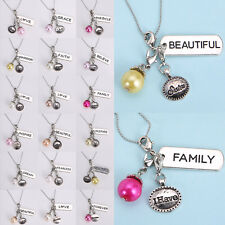Living Memory Floating Charms Locket PEARL Pendant Necklace Charm Chain New Diy