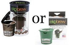 Green or Brown Ekobrew K-Cup Pod Reusable Coffee Filter for Keurig Brewer - NEW