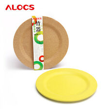 Alocs Outdoor Camping Portable Eco-Friendly Bamboo Dinner Plate Dish129g