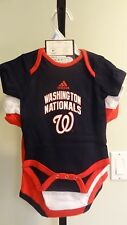 NWT MLB Washington Nationals Infant Boys 3-Pack Bodysuits: 0/3, 3/6 & 6/9 months
