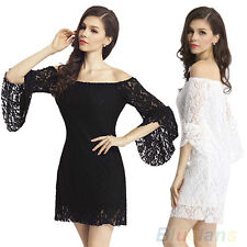 Stylish Sexy Lace Floral Strapless Cocktail Party Mini Dress for Women