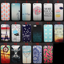 New Various Pattern Skin Hard Back Case Cover For Apple iPhone 5 5S