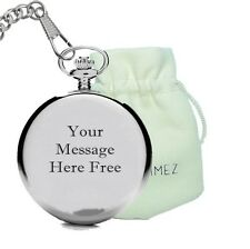 Engraved Pocket watch with Special message for Father's Day,graduation, birthday
