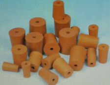 Packs of Red 1 Hole Rubber Stopper Bungs Laboratory Various sizes