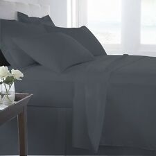 EXTRA DEEP POCKET SHEET SET 100% EGYPTIAN COTTON CHARCOAL GRAY  1PC/3PC/4PC/6PC