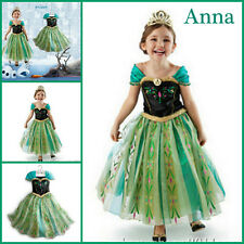 Frozen Elsa Christmas Dress Up Gown Costume Anna Queen Princess AGE 3 4 5 6 7 8Y