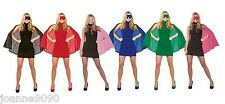 ADULTS SUPERHERO CAPE WITH MASK FANCY DRESS COSTUME STAG HEN HALLOWEEN HORROR