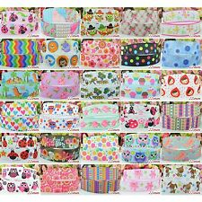 "5 10 50 100 Yds 7/8"" 22mm Grosgrain Cartoon Printed Pattern Ribbon Craft Decor"
