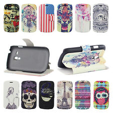 E-ZONE/ For Samsung Galaxy S3 Mini i8190 Leather Flip Stand Hard Skin Case Cover