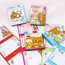 Cute Rilakkuma Cartoon Sticky Note Set 4 in 1 Book Organize Post-It Memo A0222