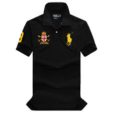 BRAND NEW POLO T SHIRT MENS CASUAL SHORT SLEEVE GOLF SWEATSHIRTS S M L XL XXL