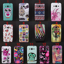 Owls Tribal Flowers Star Soft Skin Case Cover For Samsung Galaxy Core II 2 G355H
