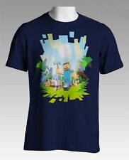 Minecraft Adventure Navy Youth's Official Licensed T-Shirt