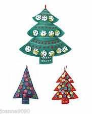 GISELA GRAHAM KITSCH FABRIC BUTTONS CHRISTMAS XMAS TREE ORNAMENT HOME DECORATION