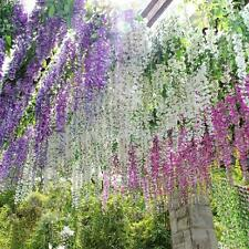 Set of 12 bunches Artificial Silk Wisteria String Wedding Decor Hanging Flowers