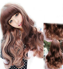 Fashion Sexy Lady Long Curly Hair Wigs Women's Cosplay Party Hair Wig + Free Cap