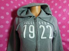 NWT HOLLISTER Gray Patch Signature Supersoft Full Zip Fleece Hoodie S M L