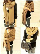 Women's Men Lady Large Fashion Vintage Warm Cashmere Wool Scarf Shawl Long Wrap