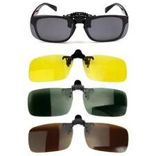 Polarized Day Night Vision Clip-on Flip-up Lens Sunglasses Driving Glasses JHRG