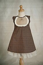NWT - Persnickety - Brown Annabelle Dress - Paperwhites- Size 2