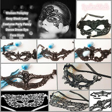 Womens Lace Sexy Black Venetian Masquerade Carnival Party Face Eye Mask