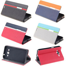 BookStyle Wallet Leather Flip Skin Case Cover For Samsung Galaxy Core II 2 G355H