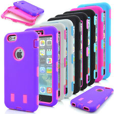 Hybrid Rugged Heavy Duty Rubber Combo Absorption Case Cover For iPhone 6 6S Plus