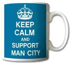 KEEP CALM AND SUPPORT MAN CITY MUG CUP PRESENT