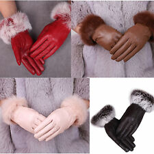 Women Lady European Style Warm Lined Winter Soft Wool Everyday Gloves bicycling