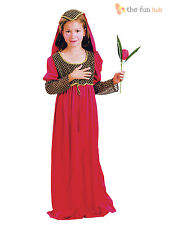 Childrens Medieval Juliet Tudor Shakespeare Girls Fairytale Fancy Dress Costume