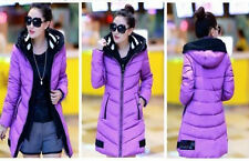 Korean 2014 New Women Winter jacket knit cap stitching Long Down Padded Coat