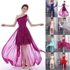 One Shoulder High-Low Evening Dress Prom Party Ball Formal Wedding Bridesmaid