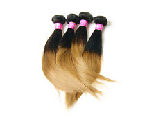 """Ombre Hair 1B/27# Straight MALAYSIAN human Hair Ombre Hair Weave 10""""-30""""Hot sell"""
