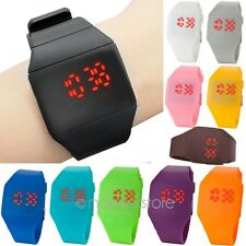 Unisex Ultra-Thin Boy Girl Touch Screen LED Digital Silicone Casual Wrist Watch
