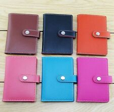 New 20 Cards PU Leather Cover Credit ID Card Holder Wallet AD152