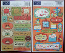 YOU CHOOSE ~BIRTHDAY CARDSTOCK STICKERS~ Karen Foster Designs; party cake gifts