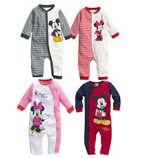 BABY CLOTHES MICKEY / MINNIE OUTFITS PLAYSUIT ONESIE SUIT SETS 0-6-12-18 MONTHS