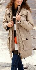 NEW LADIES WOMANS PADDED WINTER PARKA COAT BEIGE PLUS SIZE 18 TO 36 UK
