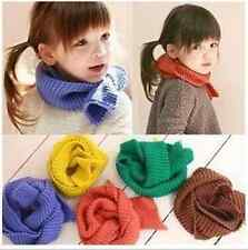 Kids Candy colors Knit Scarf Wrap Boys Girls Winter Neck Warmer Christmas Gift