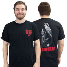 The Walking Dead Daryl with Crossbow Black Adult T-Shirt
