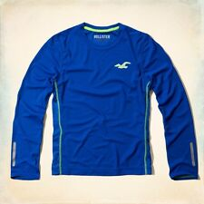 NWT Hollister By Abercrombie Men's Pullover Sport Active Shirt Blue  - M