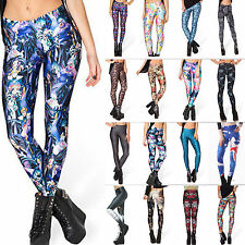 Fashion Sexy Women Colorful Printed Pattern Skinny Leggings Pencil Tights Pants