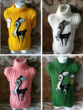 Baby Girls Kids Children Sweater Pullover Top Shirt Clothes Turtleneck Winter
