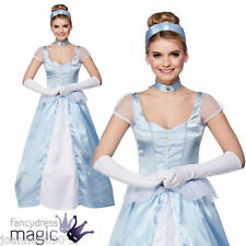 WOMENS LADIES SWEET CINDERS FAIRYTALE BOOK WEEK CINDERELLA  FANCY DRESS COSTUME