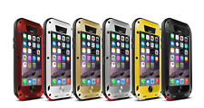 Waterproof Aluminum Metal Bumper Glass Screen Case Cover For iPhone 6 6S Plus