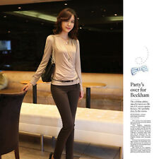 blouse for Womens clothing sweater outfit contracted sexy v neck T -shirt cheap