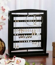 Wooden Revolving Jewelry Display Holder Organizer Storage Rack Accent Decor