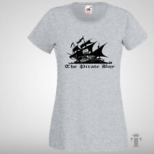 PIRATE BAY# Womens fit T-Shirt Top Best Gift Music download Movies size S-XXL