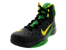 Nike Zoom Hyperfuse 2013 Mens Size Basketball Shoe Black Green 615896 006